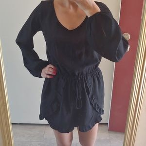 Abercrombie & Fitch Long Sleeve Black Romper XS